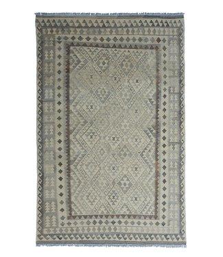 exclusive  Vloerkleed Tapijt Kelim 297x194 cm Natural Kleed Hand Geweven Kilim