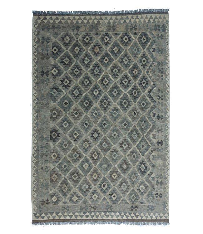 Handgemaakt Natural Kelim Wol Tapijt 298x200 cm