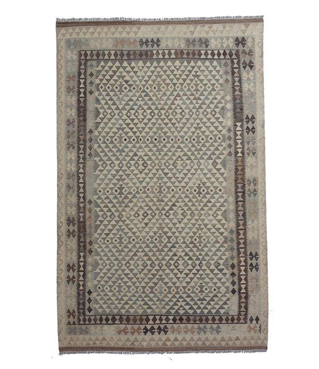 Handgemaakt Natural Kelim Wol Tapijt 305x198 cm