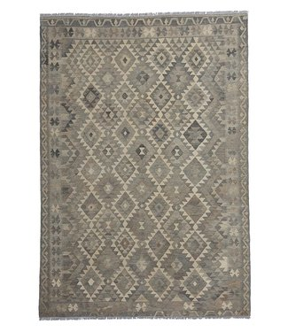 exclusive  Vloerkleed Tapijt Kelim 294x204 cm Natural Kleed Hand Geweven Kilim
