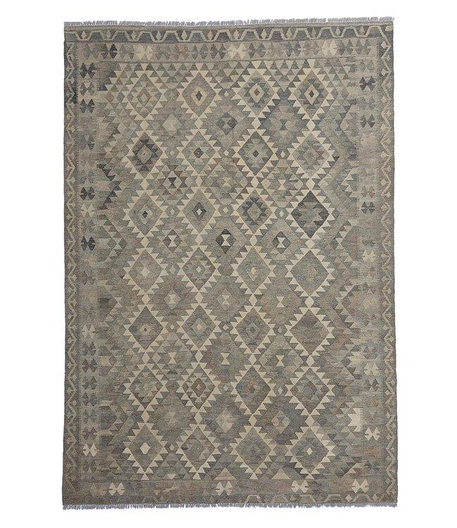 Handgemaakt Natural Kelim Wol Tapijt 294x204 cm