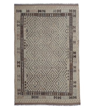exclusive  Vloerkleed Tapijt Kelim 296x197 cm Natural Kleed Hand Geweven Kilim