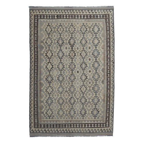 exclusive  Vloerkleed Tapijt Kelim 288x200 cm Natural Kleed Hand Geweven Kilim