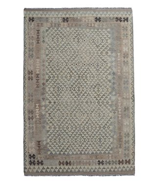 exclusive  Vloerkleed Tapijt Kelim 300x202 cm Natural Kleed Hand Geweven Kilim
