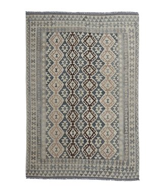 exclusive  Vloerkleed Tapijt Kelim 291x202 cm Natural Kleed Hand Geweven Kilim