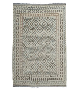 exclusive  Vloerkleed Tapijt Kelim 293x196 cm Natural Kleed Hand Geweven Kilim