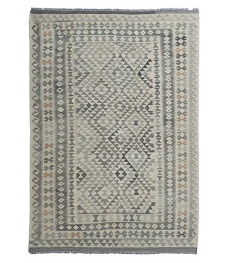 exclusive  Vloerkleed Tapijt Kelim 292x208 cm Natural Kleed Hand Geweven Kilim
