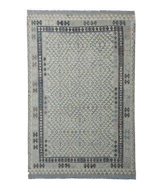 9'91x6'60 Sheep Wool Handwoven Natural Traditional Afghan kilim Area Rug