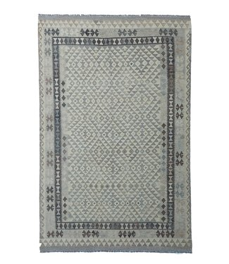 exclusive  Vloerkleed Tapijt Kelim 302x201 cm Natural Kleed Hand Geweven Kilim