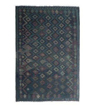 9'94x6'76 Sheep Wool Handwoven Multicolor Traditional Afghan kilim Area Rug