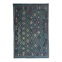 exclusive  mehrfarbig  Kelim Teppich 296x201 cm afghan kilim teppich