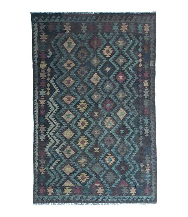 9'71x6'59 Hand Woven Afghan Wool Kilim Area Rug