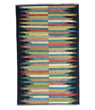exclusive modern  Veelkleurig  Vloerkleed Tapijt Kelim 305x197 cm Kleed Hand Geweven Kilim