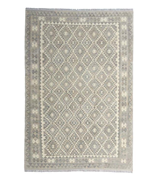 Handgemaakt Natural Kelim Wol Tapijt 297x205 cm