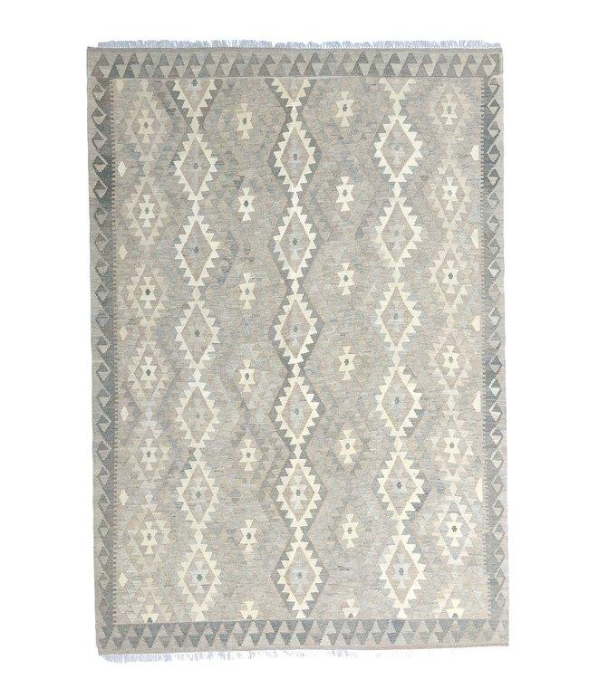 Handgemaakt Natural Kelim Wol Tapijt 298x205 cm