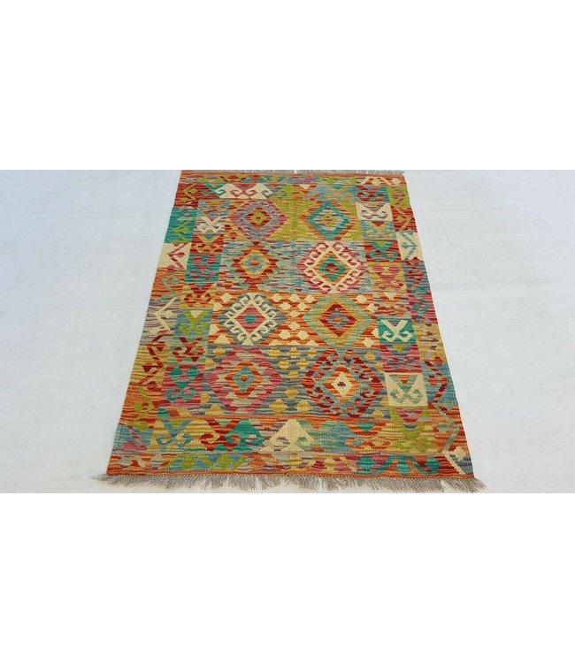 Handgeweven afghaans kelimtapijt van topkwaliteit voor de beste prijs wol 150x106 cm kelim