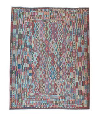 490x401 cm Handgeweven Afghaanse tribale kelim kleed handgemaakte wollen tapijt