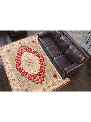 Hand knotted 11'9x8'8 ziegler rug  Heriz Wool Rug 363x271 cm  Serapi Carpet