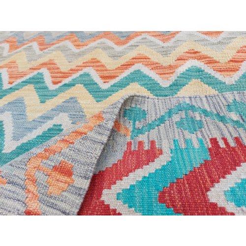 exclusive Kelim Teppich 292x255 cm Multicolor afghan kilim teppich