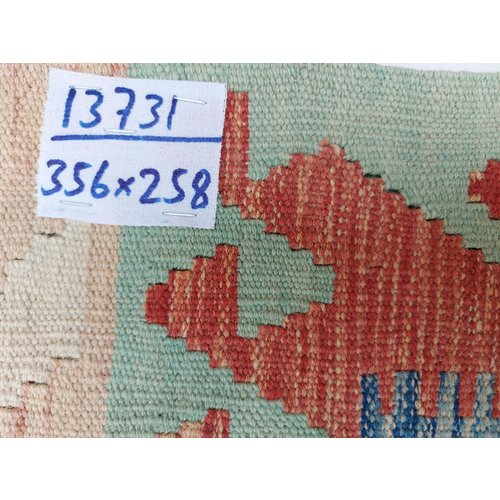 exclusive Kelim Teppich 356x258 cm Multicolor afghan kilim teppich