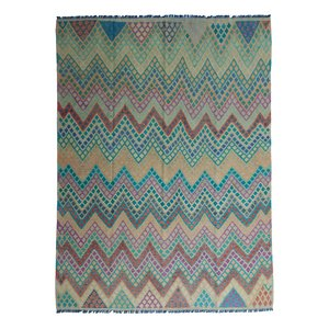 exclusive  Vloerkleed Tapijt Kelim 335x249 cm Multicolor Kleed Hand Geweven Kilim
