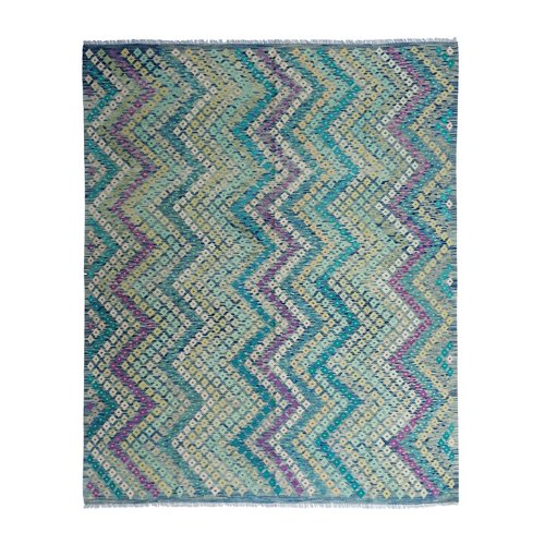 exclusive  Vloerkleed Tapijt Kelim 305x251 cm Multicolor Kleed Hand Geweven Kilim