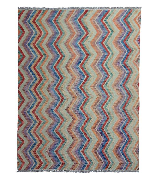 11'58x8'83 Hand Woven Afghan Wool Kilim Area Rug