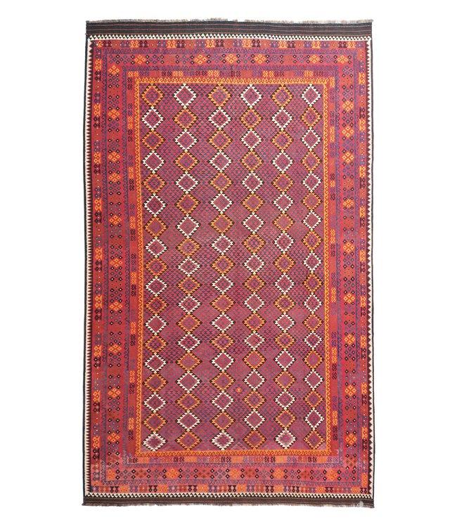 exclusive  Vloerkleed Tapijt Kelim 502x314 cm Multicolor Kleed Hand Geweven Kilim