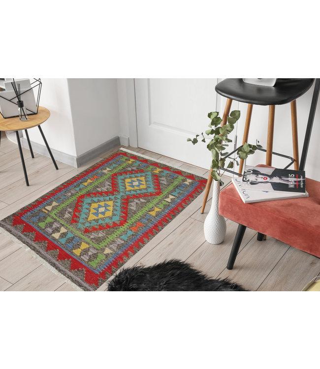kelim kleed  118 x 80 cmvloerkleed tapijt kelims hand geweven