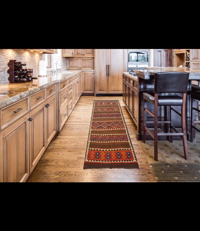 kelim kleed    328 x 131 cmvloerkleed tapijt kelims hand geweven