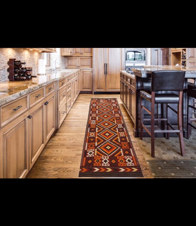 kelim kleed    458 x 133 cm vloerkleed tapijt kelims hand geweven