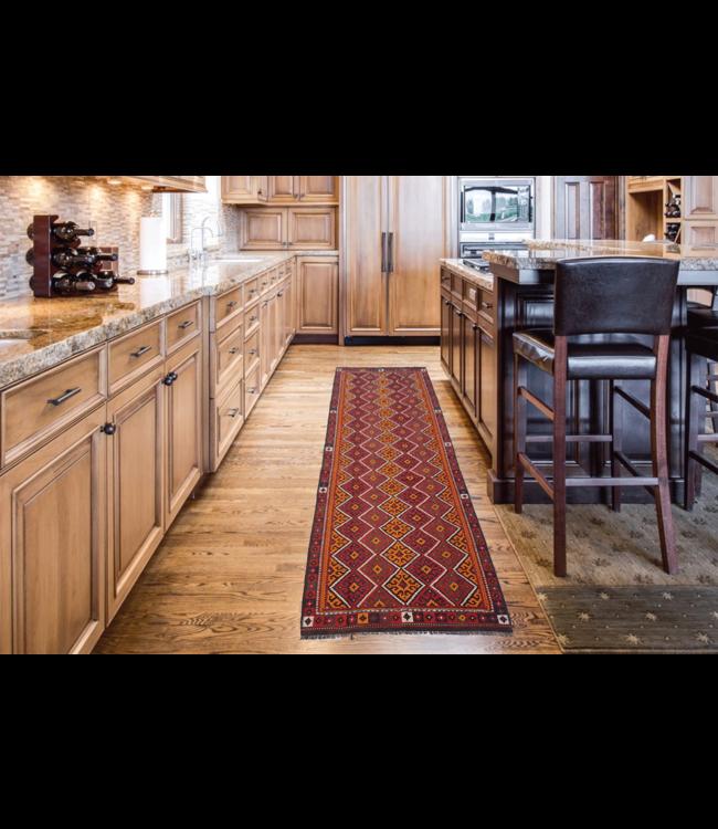 kelim kleed    427 x 151 cmvloerkleed tapijt kelims hand geweven