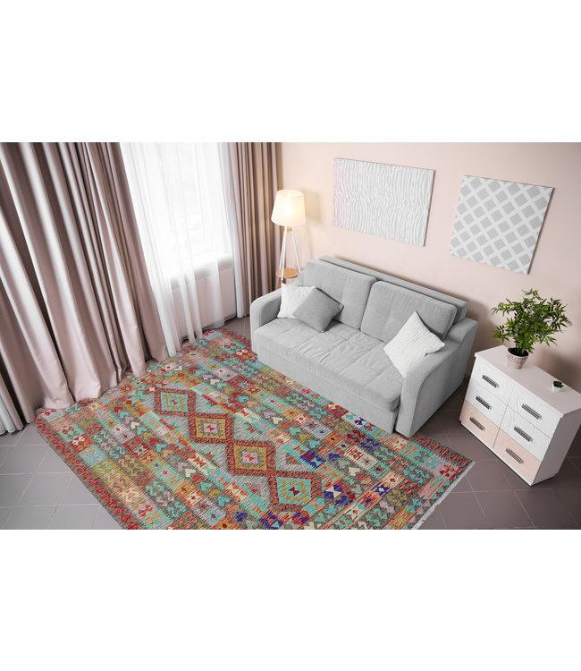 kelim  255x184 cm vloerkleed tapijt kelims hand geweven