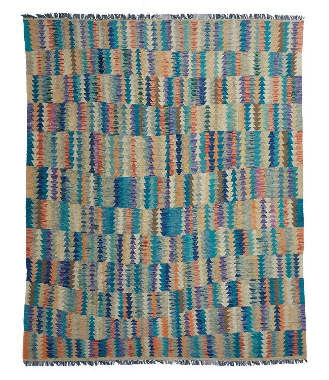 Handgemaakt Oosters Kelim Wol Vloerkleed 302x247 cm