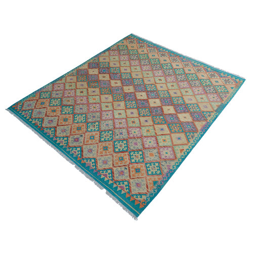exclusive Kelim Teppich 288x252 cm Multicolor afghan kilim teppich