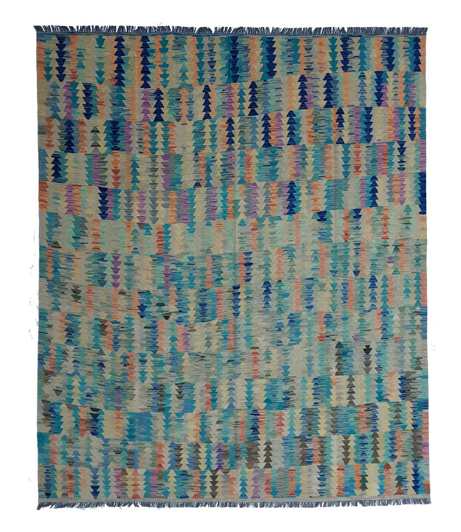 exclusive  Vloerkleed Tapijt Kelim 299x249 cm Multicolor Kleed Hand Geweven Kilim