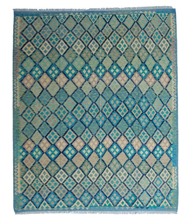 exclusive  Vloerkleed Tapijt Kelim 294x250 cm Multicolor Kleed Hand Geweven Kilim