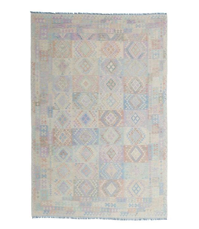 exclusive  Vloerkleed Tapijt Kelim 350x246 cm Multicolor Kleed Hand Geweven Kilim