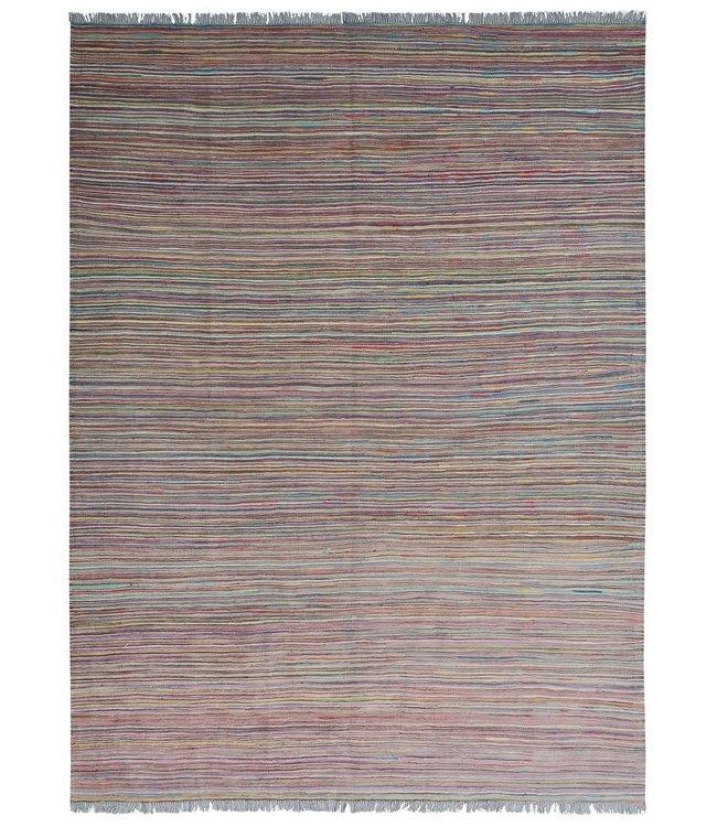 Kelim kleed 239X178cm  streep  Multicolor Kleed Hand Geweven