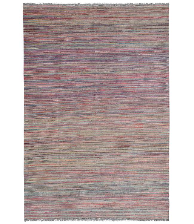Kelim kleed240X166 cm streep  Multicolor Kleed Hand Geweven