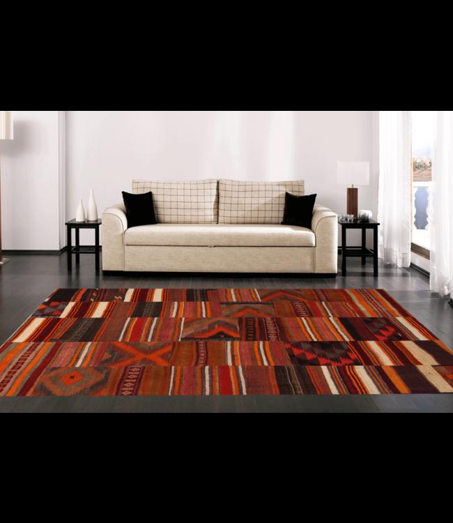 kelim patchwork tapijt 254x204 cm