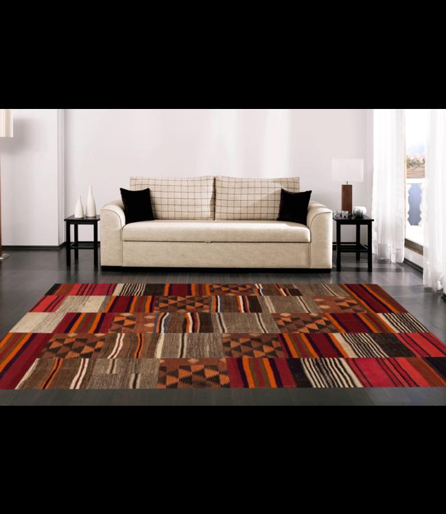 kelim patchwork tapijt 259x204 cm