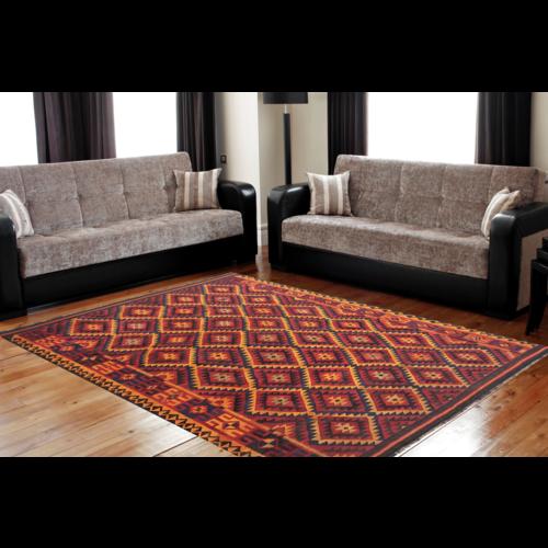 exclusive Kelim Teppich 341x240 cm Multicolor afghan kilim teppich