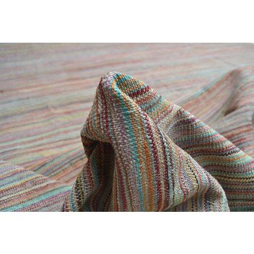 Kelim teppich -242X180cm streep Multicolor afghan