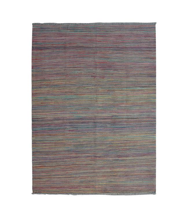 Kelim kleed-236X168 cm streep   Multicolor Kleed Hand Geweven