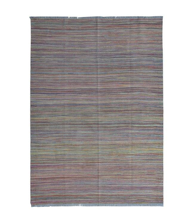 Kelim kleed--243X170 cm streep  Multicolor Kleed Hand Geweven