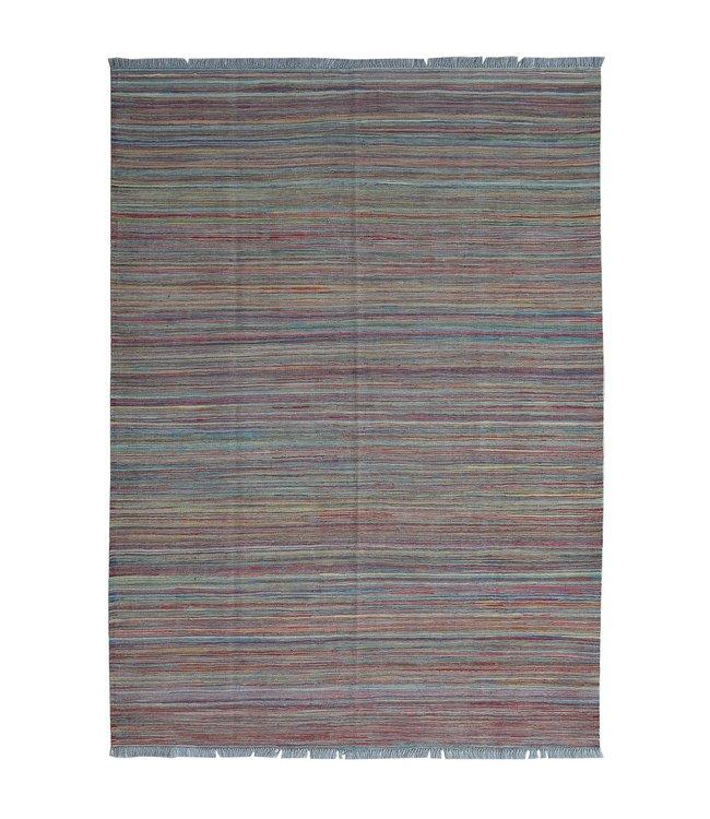 Kelim kleed-250X175cm streep  Multicolor Kleed Hand Geweven