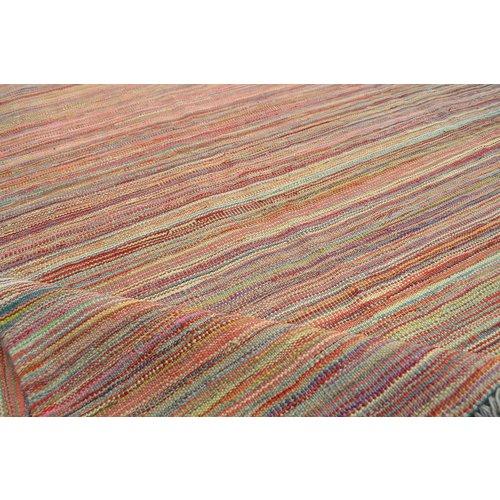 Kelim teppich -252X173cm streep  Multicolor afghan