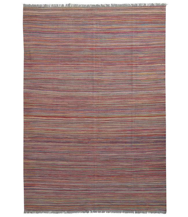 Kelim kleed-251X175cm streep  Multicolor Kleed Hand Geweven