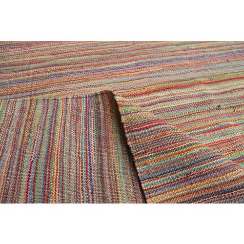 Kelim teppich -251X175cm streep Multicolor afghan
